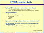 eftem detection limits