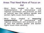 areas that need more of focus on aid