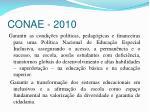 conae 2010