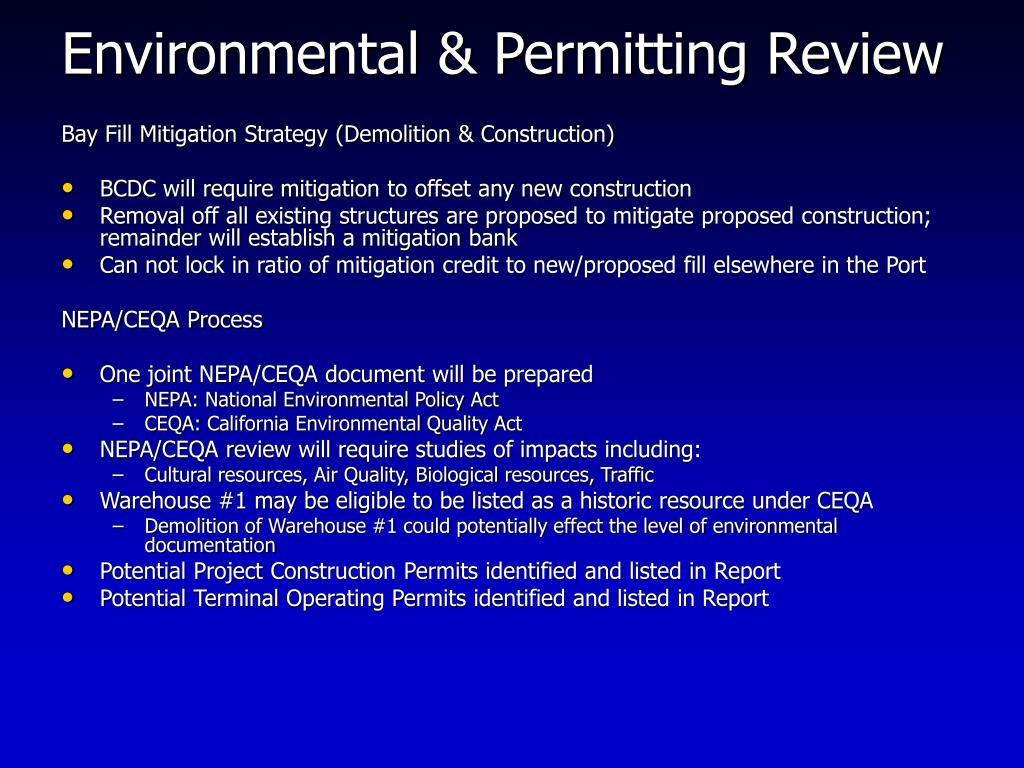 Environmental & Permitting Review