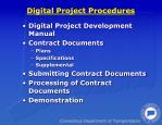 digital project procedures