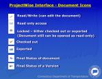 projectwise interface document icons