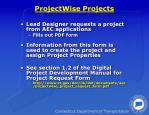 projectwise projects