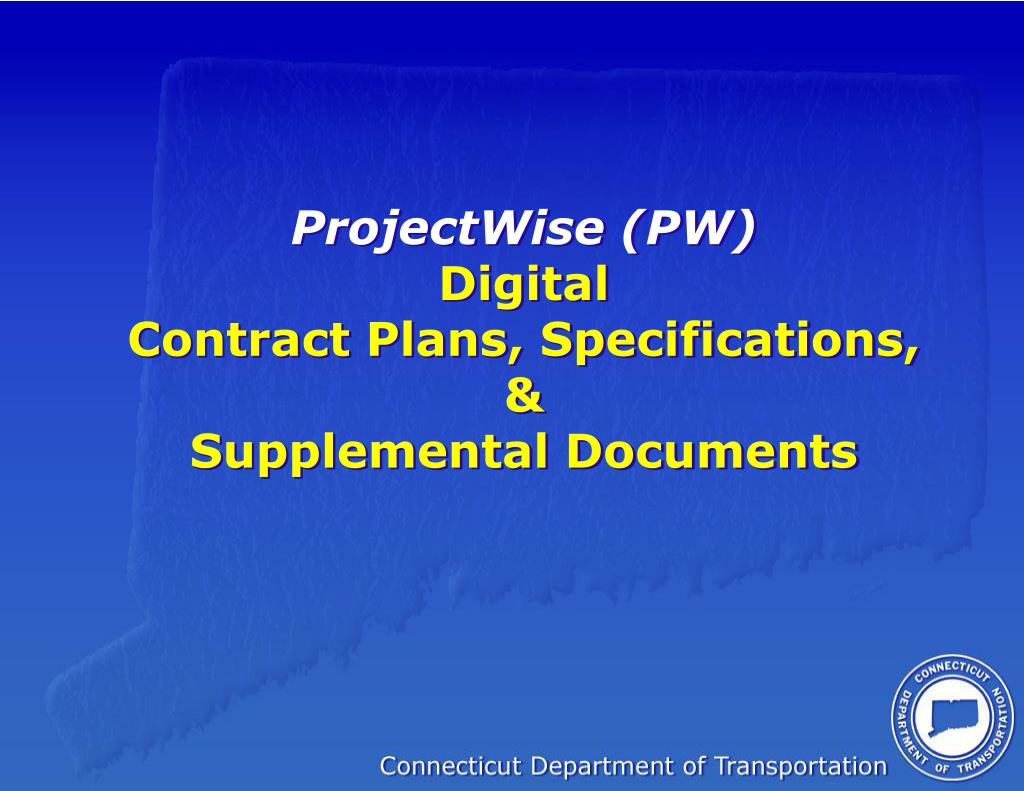projectwise pw digital contract plans specifications supplemental documents l.