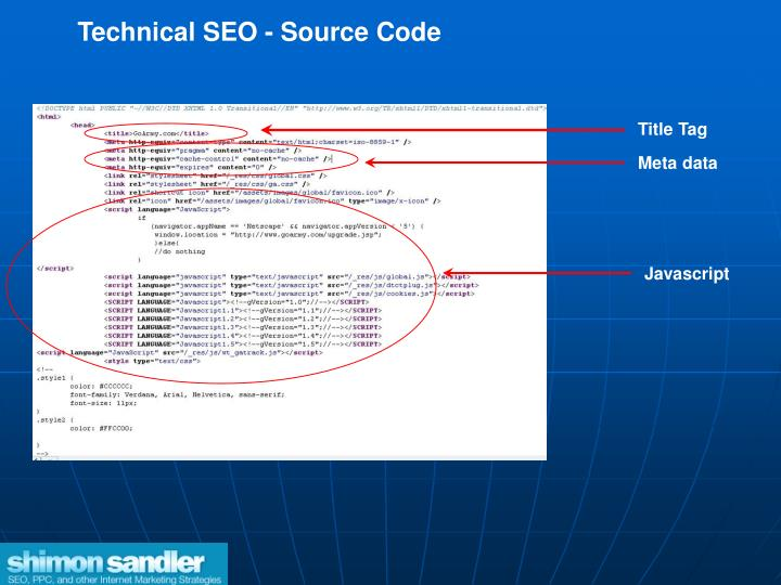 Technical SEO - Source Code