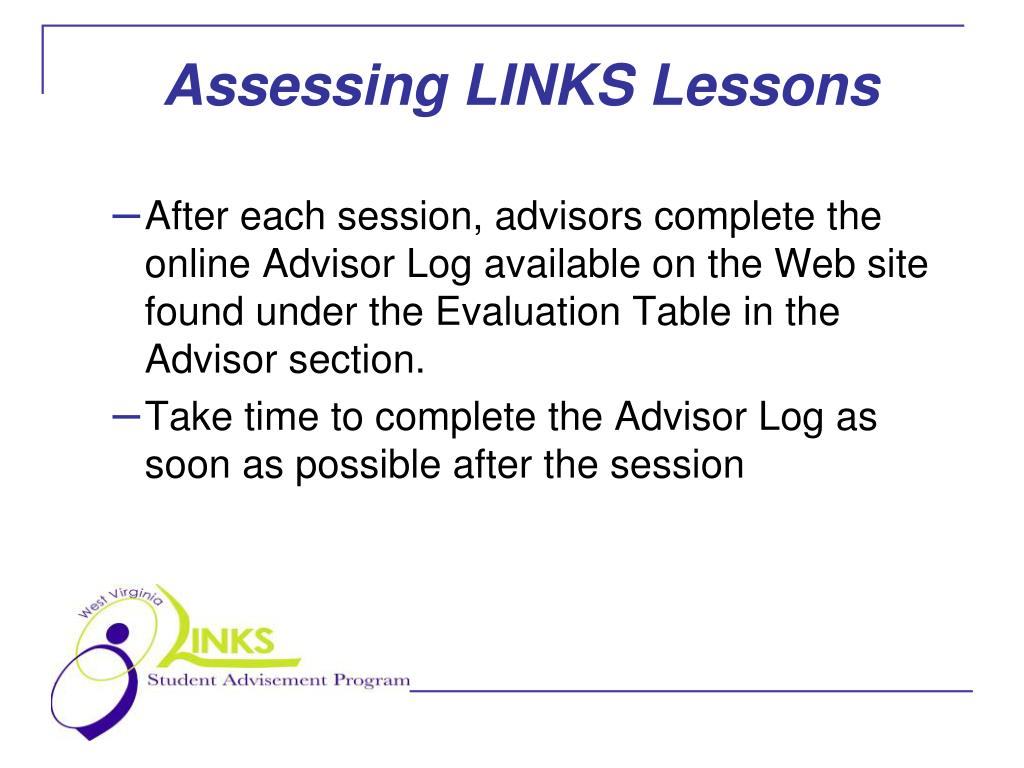 Assessing LINKS Lessons