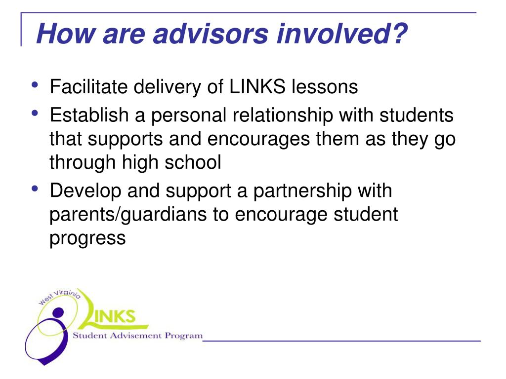 How are advisors involved?