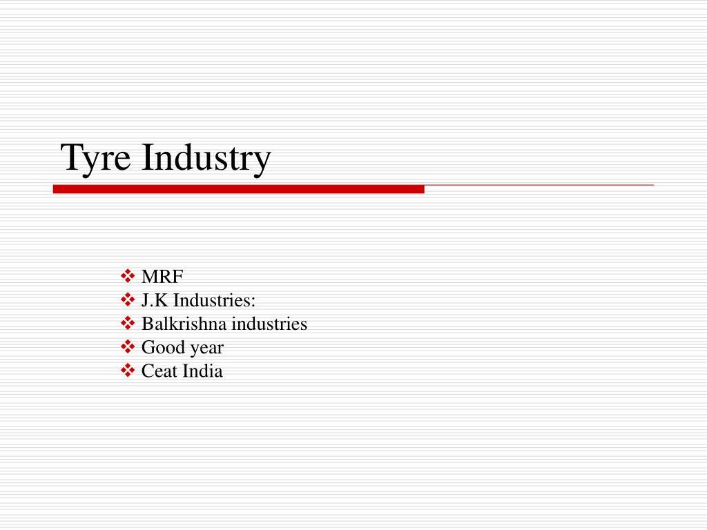 tyre industry l.