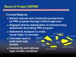 basis of project define