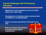 current challenges with performance indicators