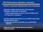 prc performance indicators summary