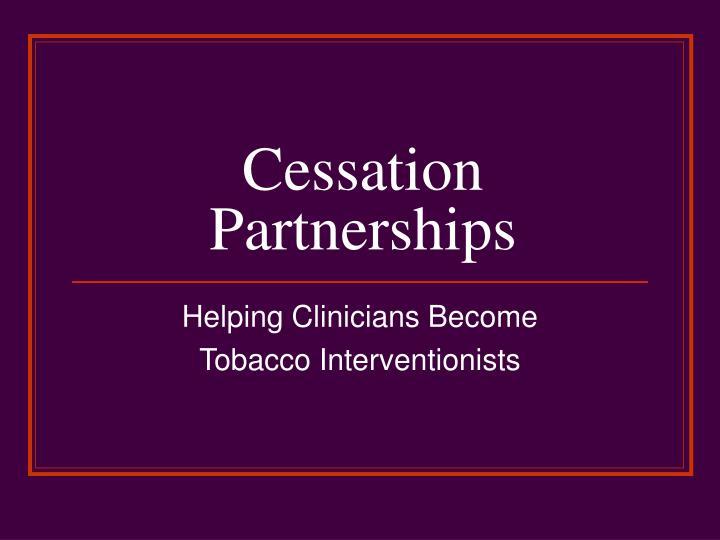 Cessation partnerships