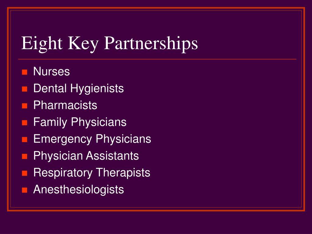 Eight Key Partnerships