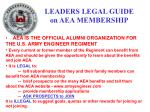 leaders legal guide on aea membership