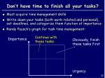 don t have time to finish all your tasks