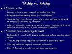 taship vs raship