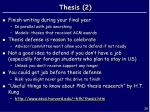 thesis 2