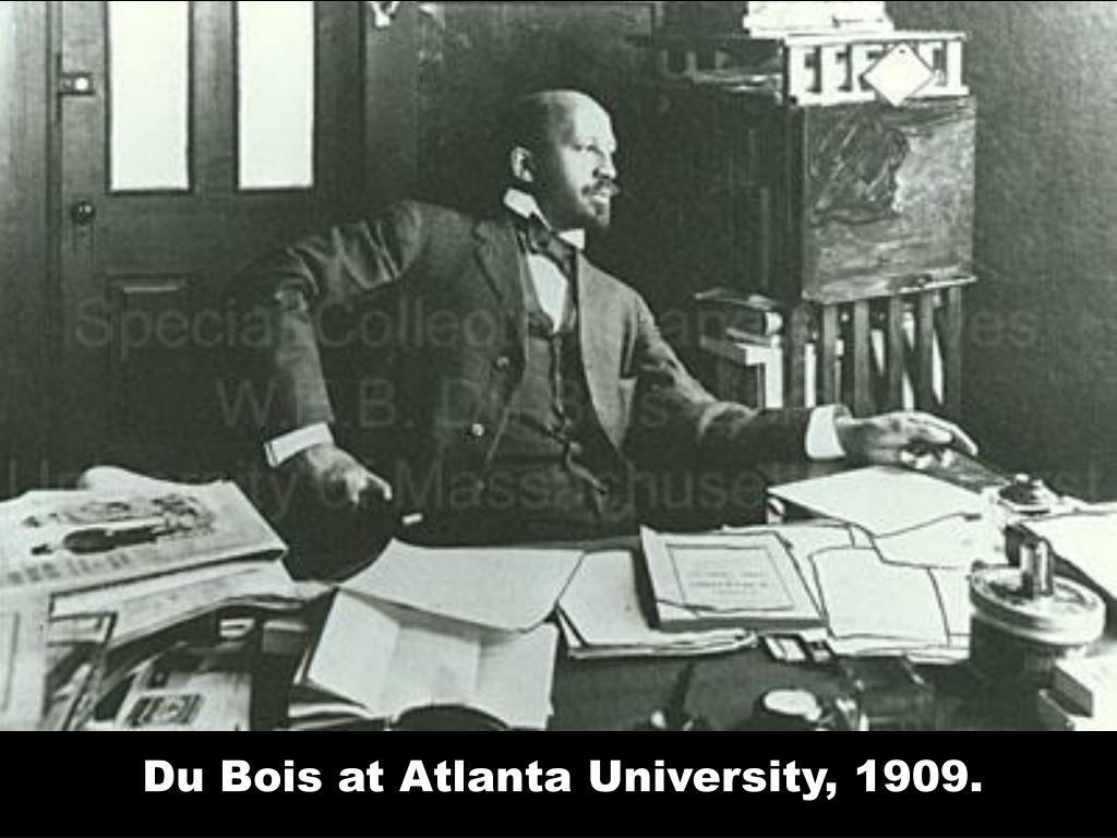 Du Bois at Atlanta University, 1909.