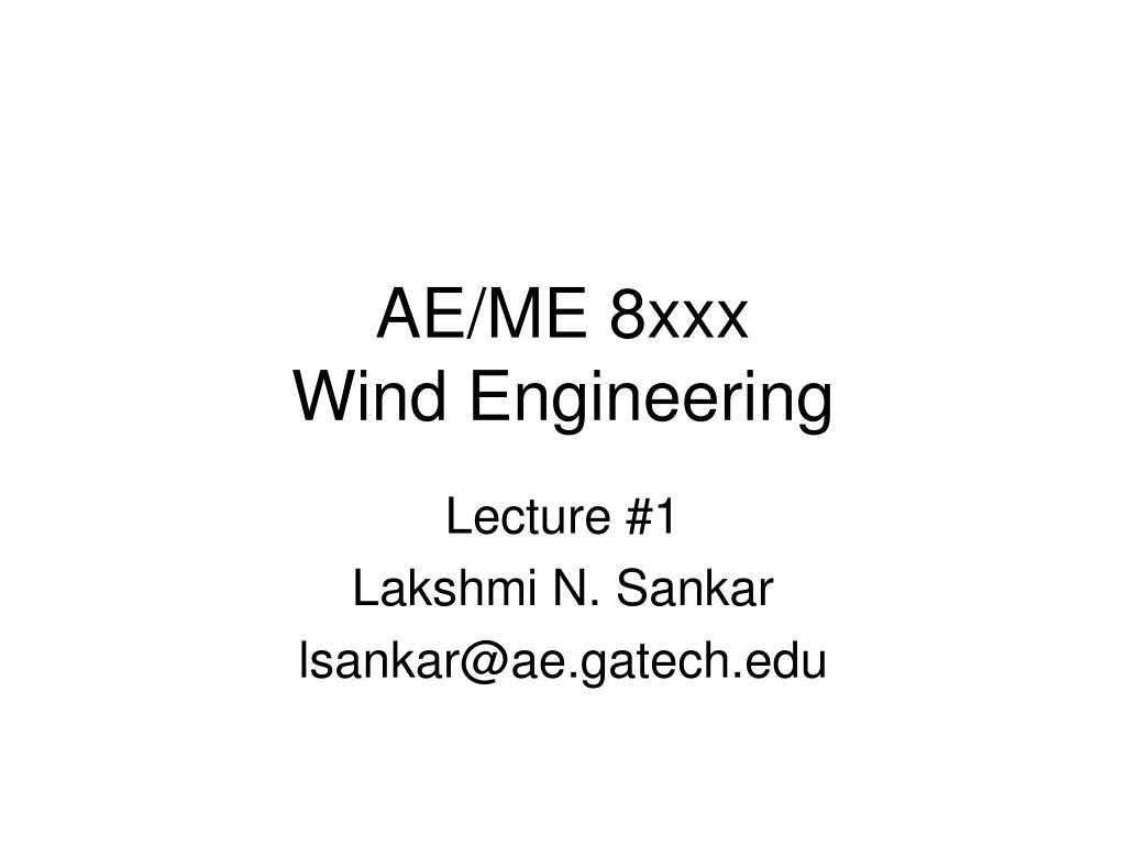 ae me 8xxx wind engineering l.