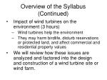 overview of the syllabus continued16