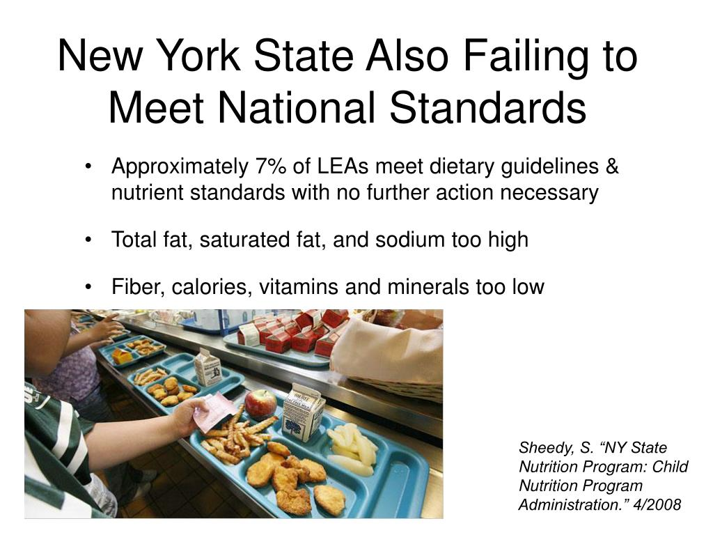 New York State Also Failing to Meet National Standards