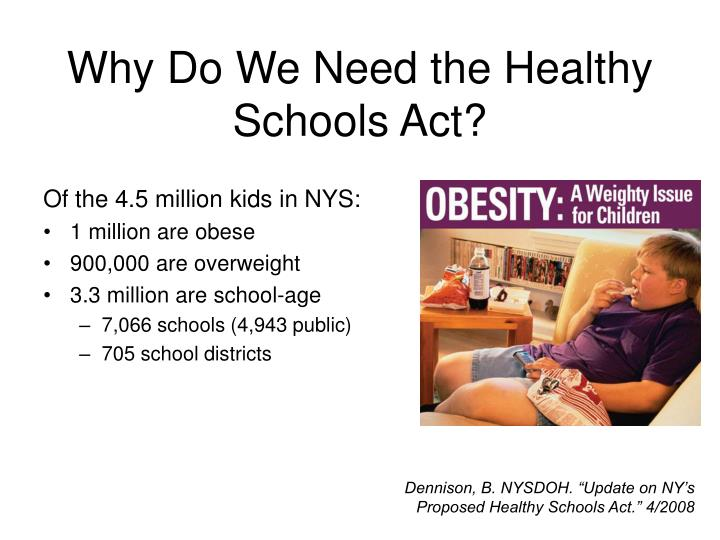 Why do we need the healthy schools act