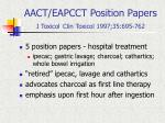aact eapcct position papers j toxicol clin toxicol 1997 35 695 762