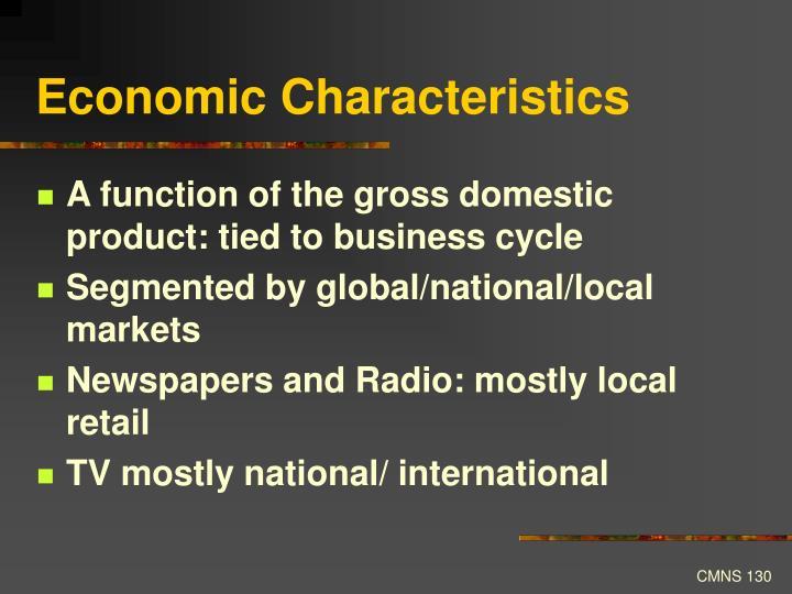 Economic Characteristics
