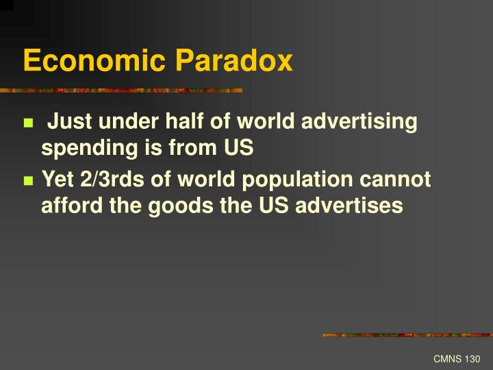Economic Paradox