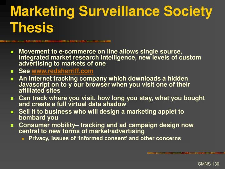 Marketing Surveillance Society Thesis