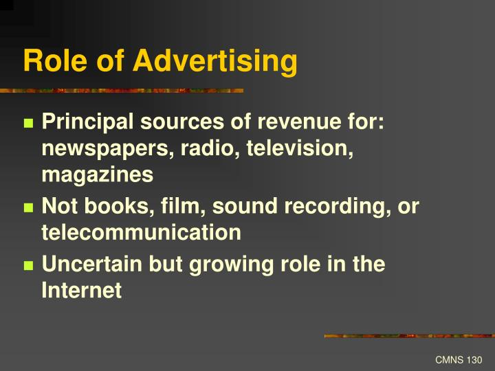 Role of Advertising