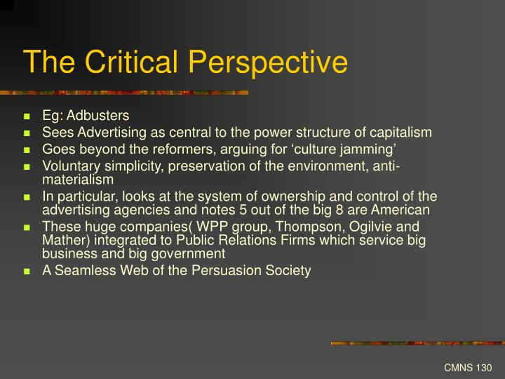 The Critical Perspective