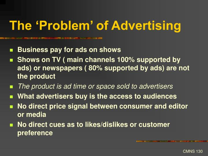 The 'Problem' of Advertising