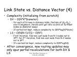 link state vs distance vector 4