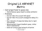 original ls arpanet metric