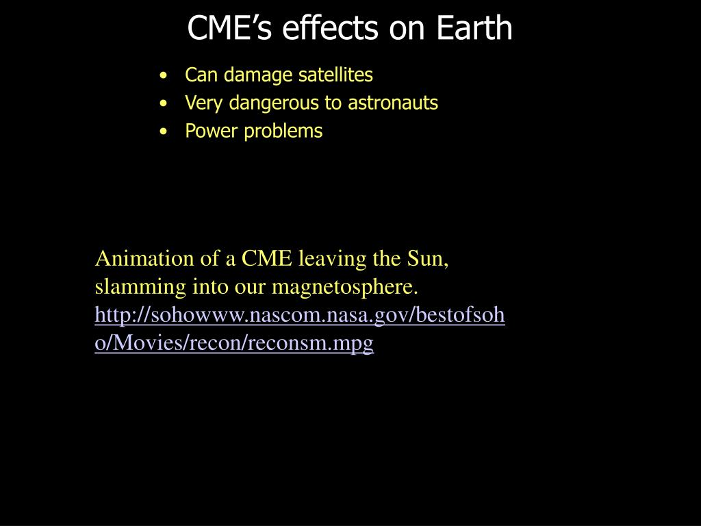 CME's effects on Earth