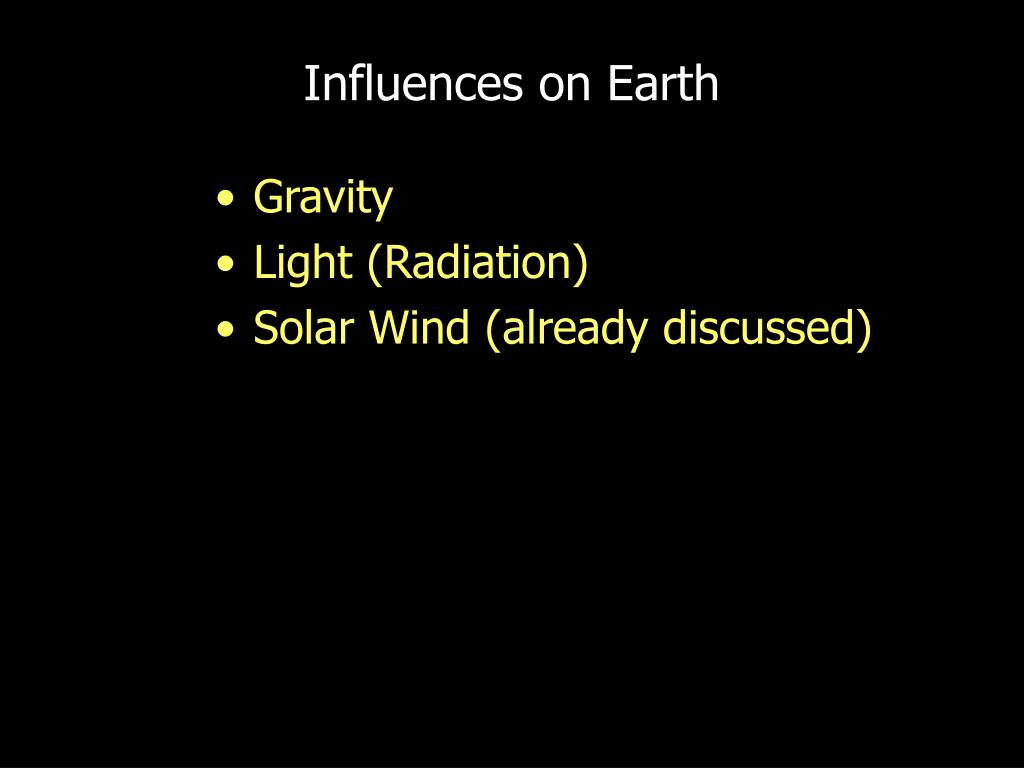 Influences on Earth
