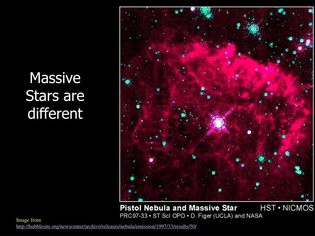 Massive Stars are different