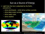 sun as a source of energy
