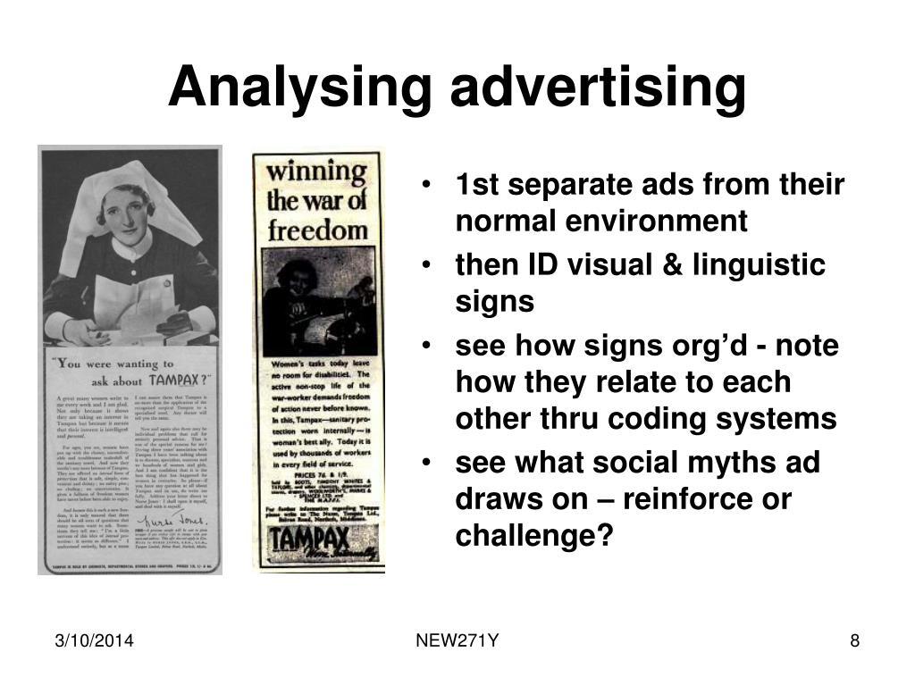 Analysing advertising