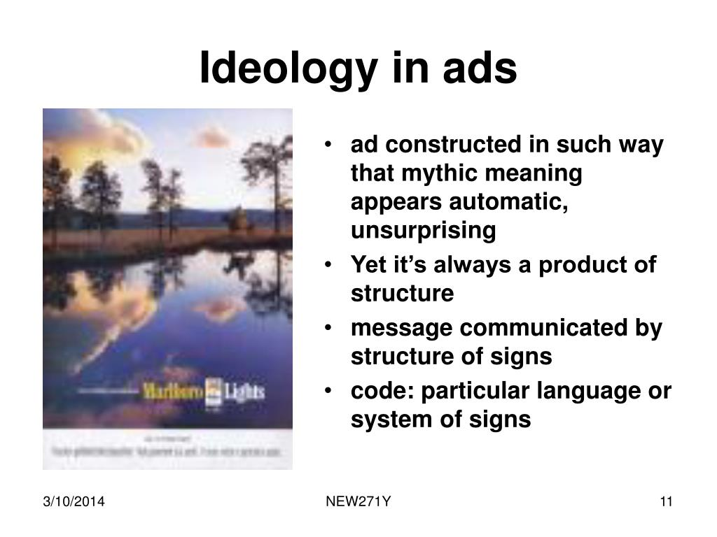 Ideology in ads