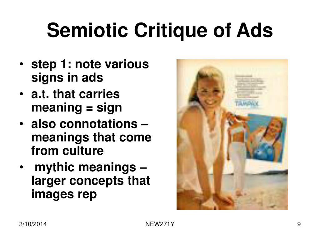 Semiotic Critique of Ads