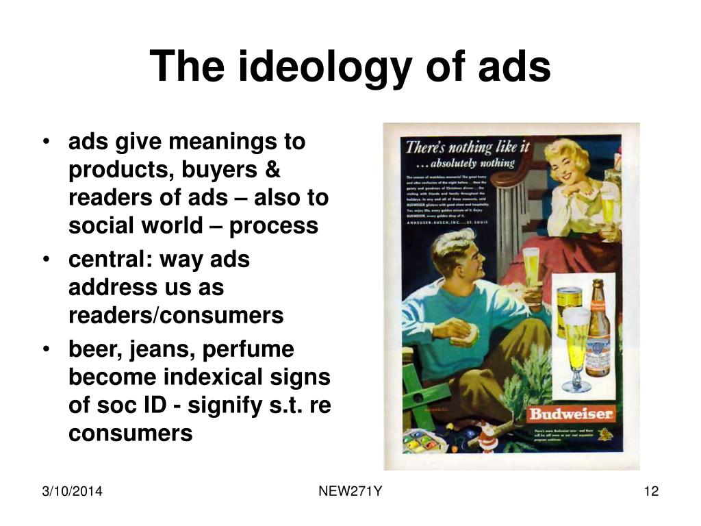 The ideology of ads