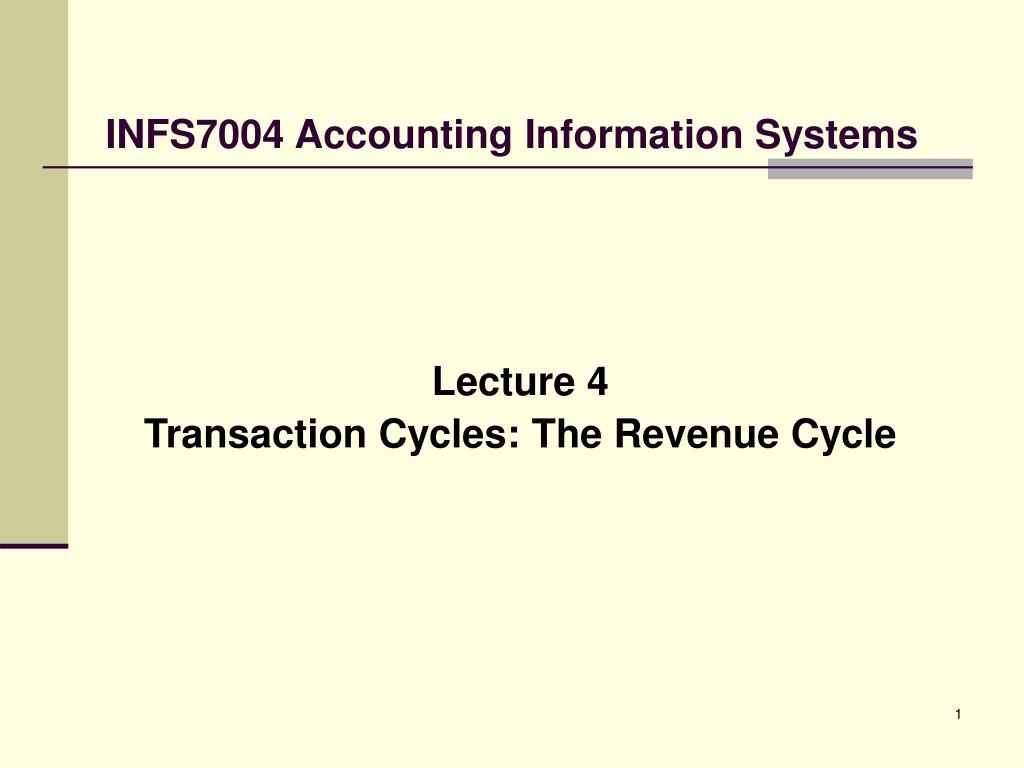 infs7004 accounting information systems l.