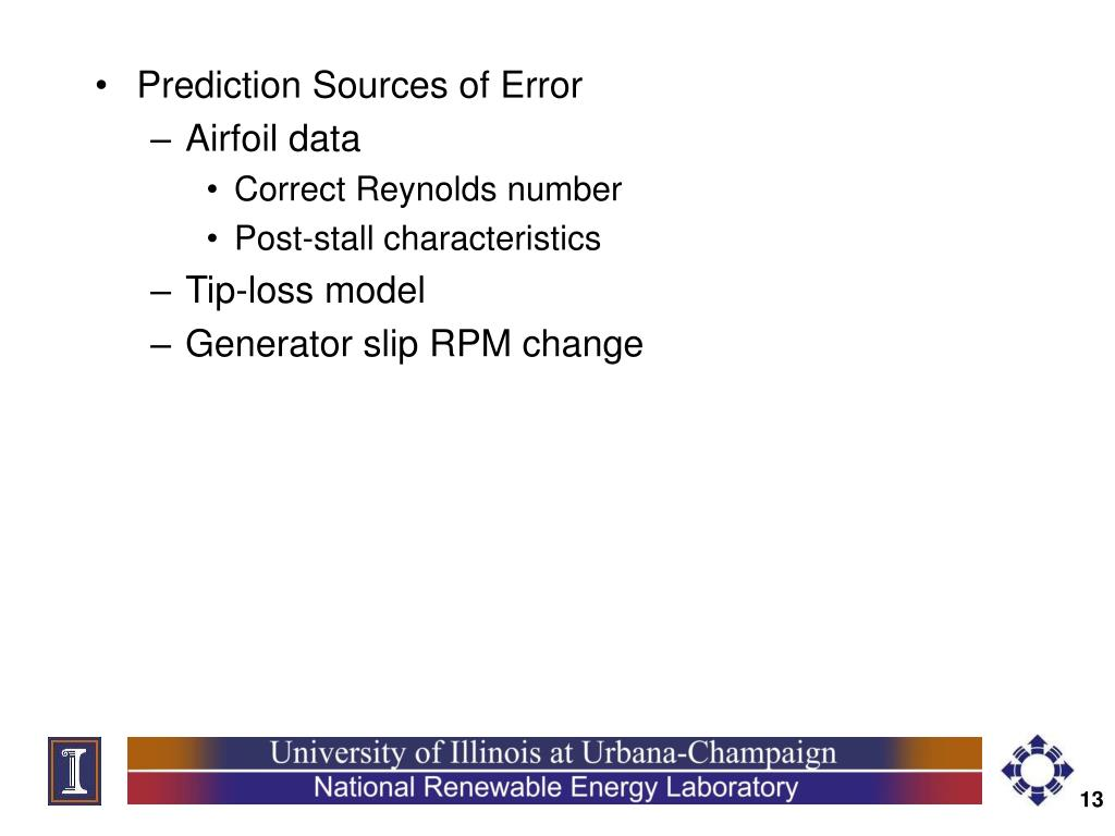 Prediction Sources of Error