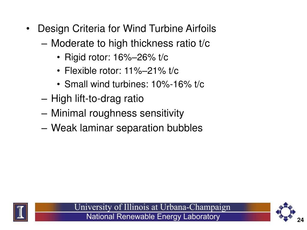 Design Criteria for Wind Turbine Airfoils