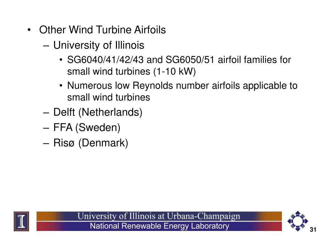 Other Wind Turbine Airfoils