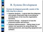 b systems development