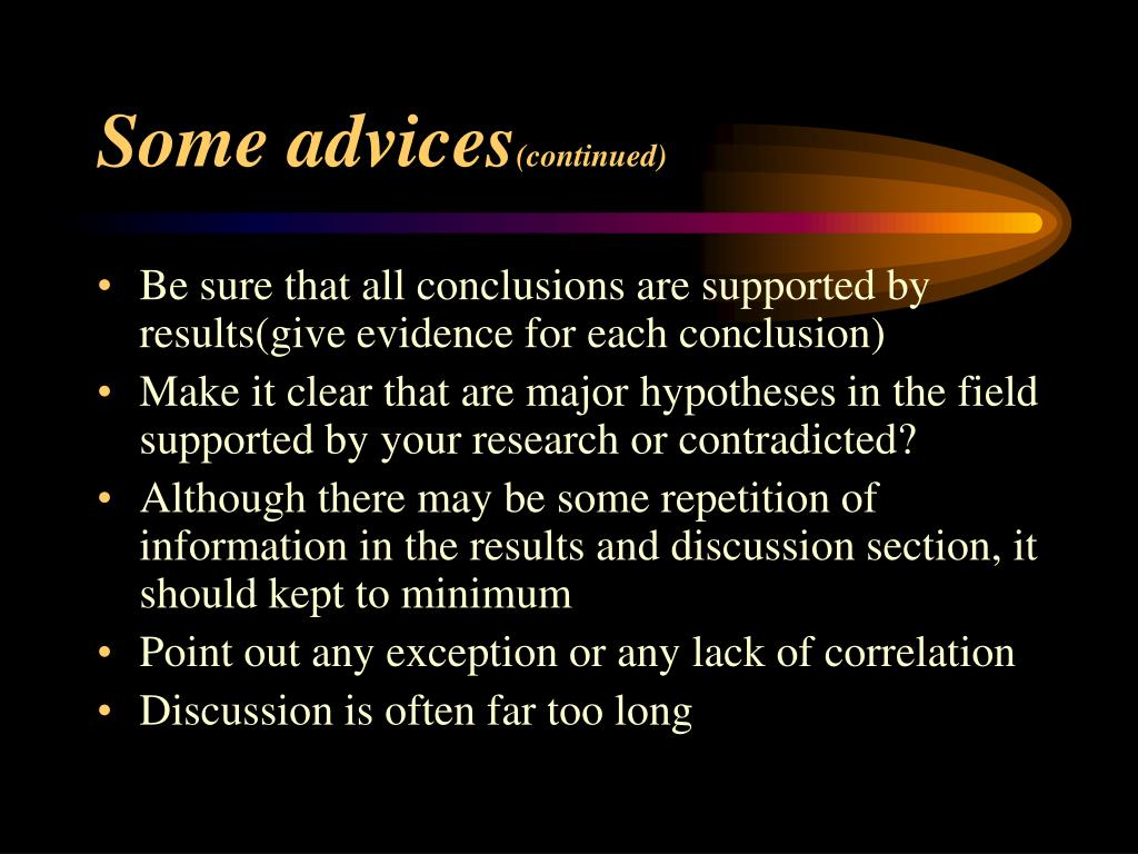 Some advices