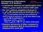 consequences of equivalence between r variances